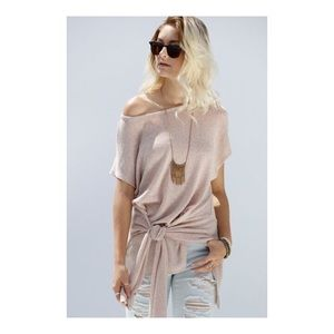 Tops - BOXY KNIT SIDE TIE TOP